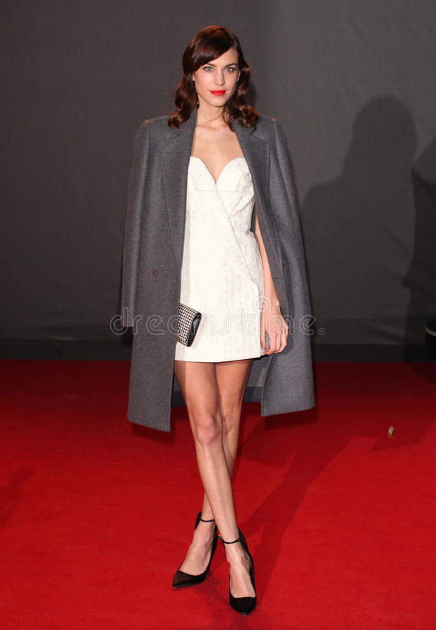Alexa Chung. Arriving for the 2013 British Fashion Awards, at The London Coliseum, London. 02/12/2013 Picture by: Alexandra Glen / Featureflash royalty free stock photo