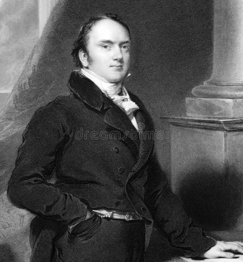 Alexander Baring. 1st Baron Ashburton (1774-1848) on engraving from 1838. British politician and financier. Engraved by R.A.Arlett after a painting by T stock images