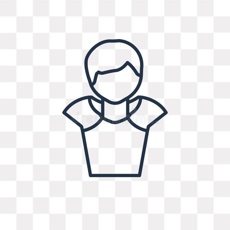 Alexander den stora vektorsymbolen som isoleras på genomskinlig backgrou stock illustrationer