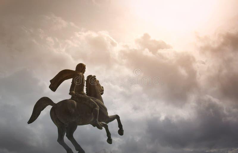 Alexander der Große, der berühmte König von Macedon lizenzfreie stockfotografie