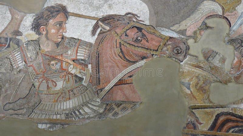 Alexander der Große gegen Darius stockbilder
