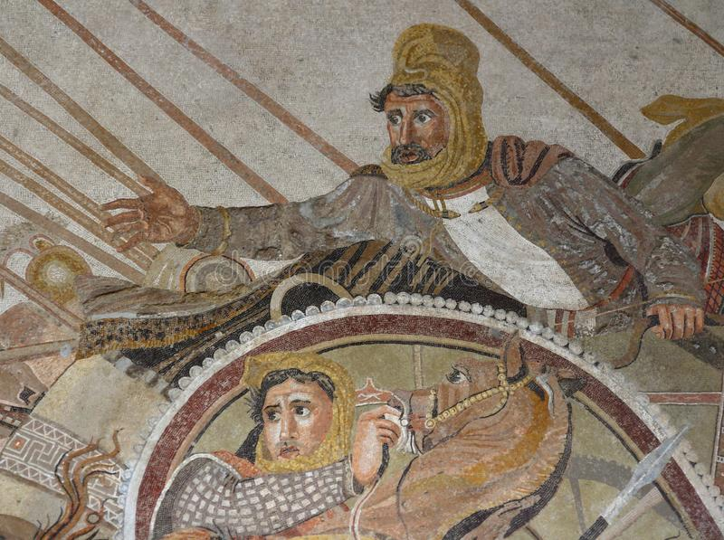 Alexander der Große gegen Darius lizenzfreie stockfotografie