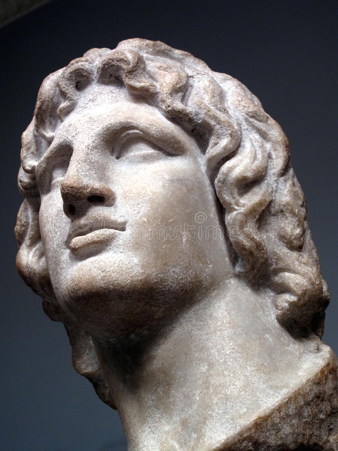 Alexander der Große-Statue lizenzfreie stockfotografie