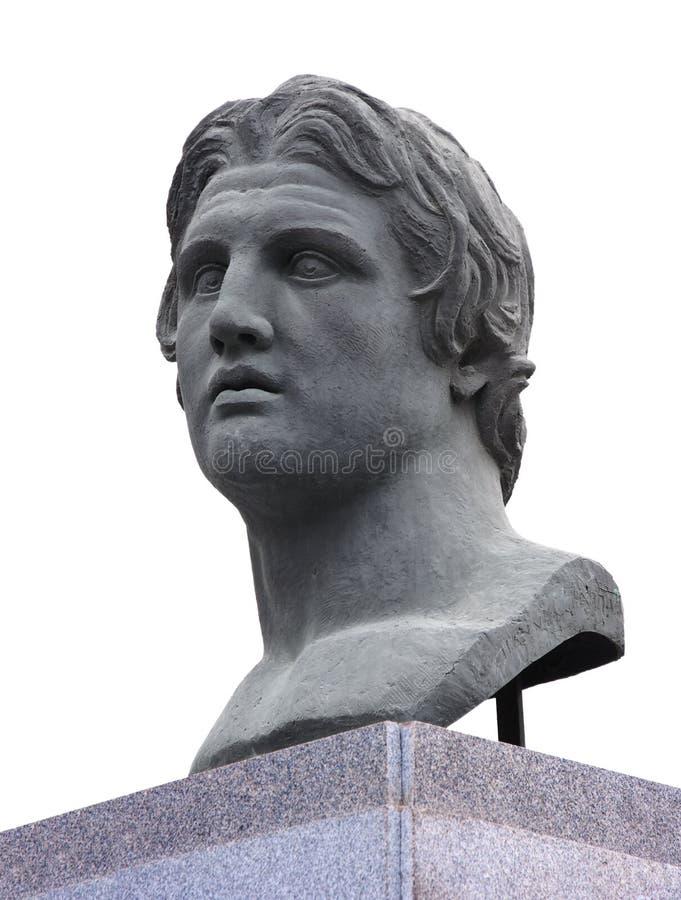Alexander der Große-Statue stockbilder