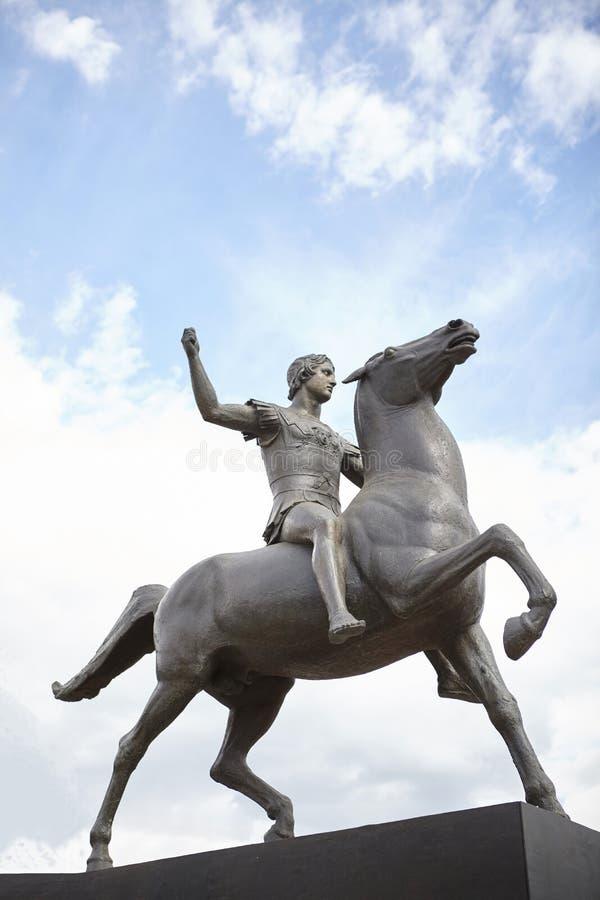Alexander der Gro?e-Statue lizenzfreie stockfotos