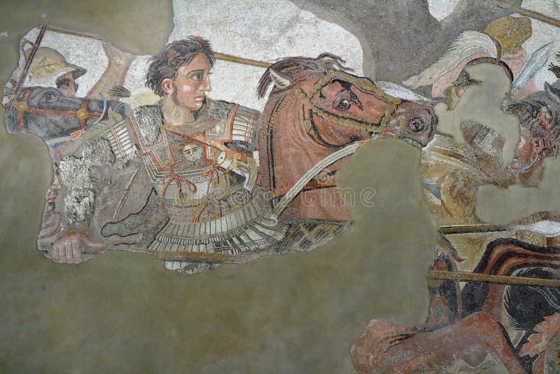 Alexander el grande contra Darius fotos de archivo