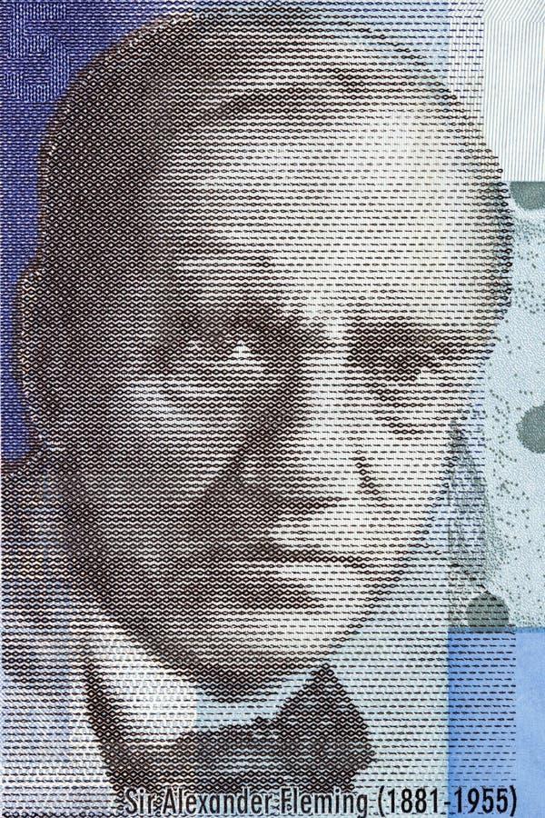 Alexander Fleming een portret royalty-vrije stock fotografie