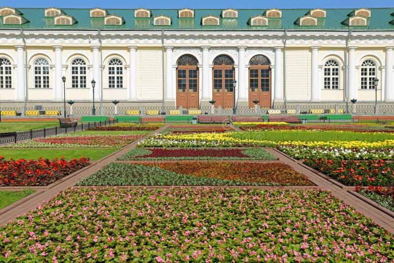 Alexander Garden e Moscou Manege. Rússia foto de stock royalty free