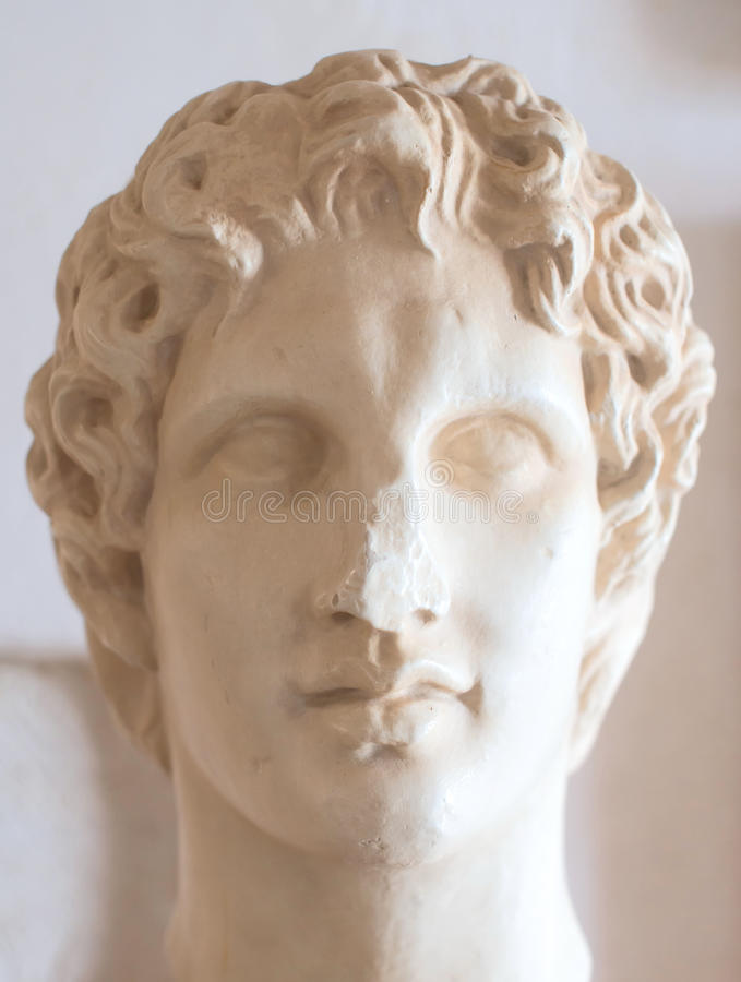 Alexander the Great. Ancient bust of Alexander the Great in museum royalty free stock photos