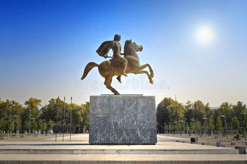 Alexander the Great, the famous king of Macedon royalty free stock photo