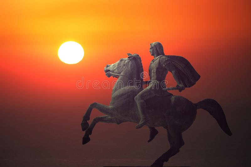 Alexander the Great, the famous king of Macedon stock photography