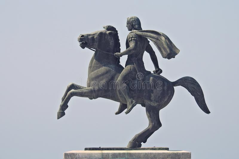 Alexander the Great, the famous king of Macedon royalty free stock photos