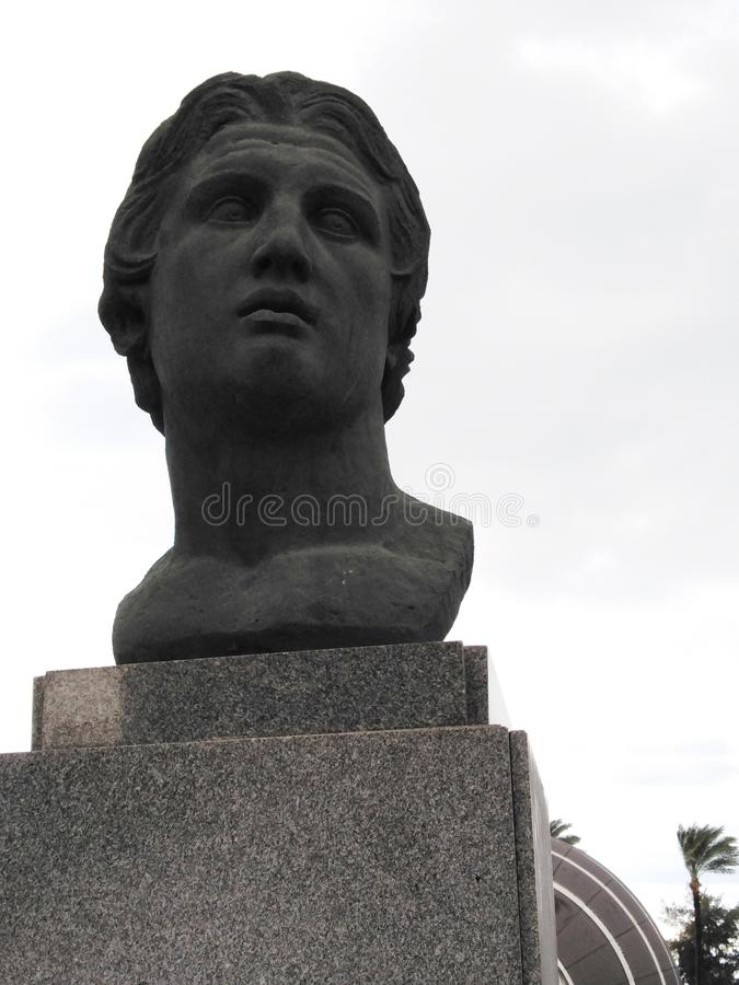 Alexander The Great Statue, Alexandrië, Egypte stock afbeeldingen