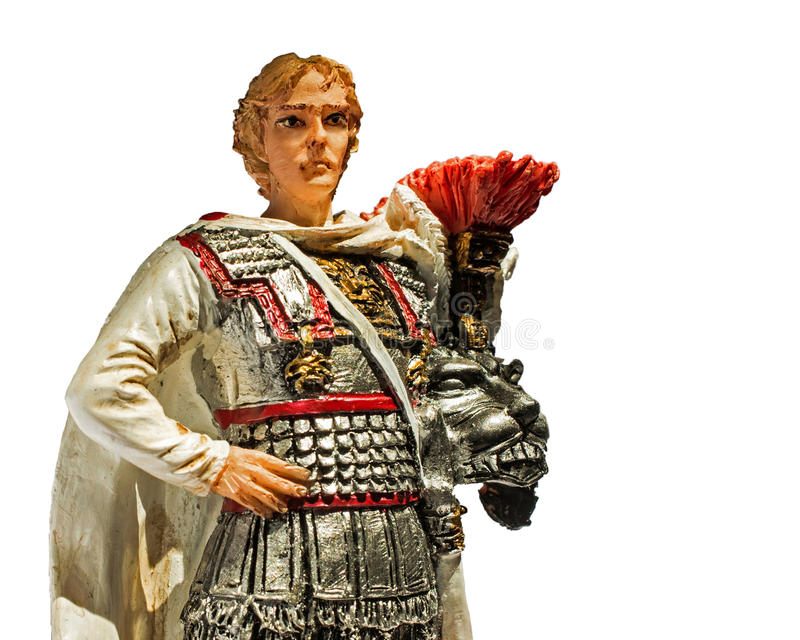 Alexander the Great. Statue of Alexander the Great, isolated royalty free stock photo