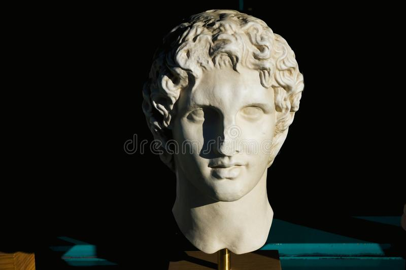 Alexander the great statue. Souvenir in a shop of Athens, Greece stock photo