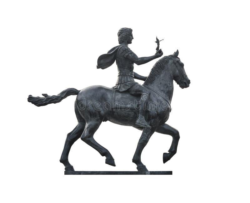 Alexander The Great sul cavallo immagini stock