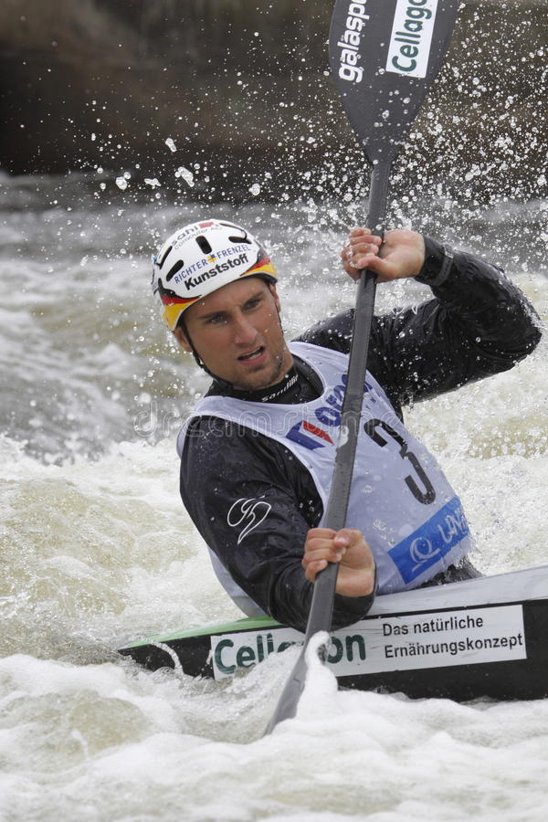 Download Alexander Grimm In Water Slalom World Cup Race Editorial Image - Image: 14889375