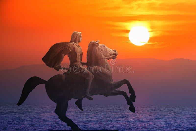 Alexander Groot, de beroemde koning van Macedon royalty-vrije stock foto's