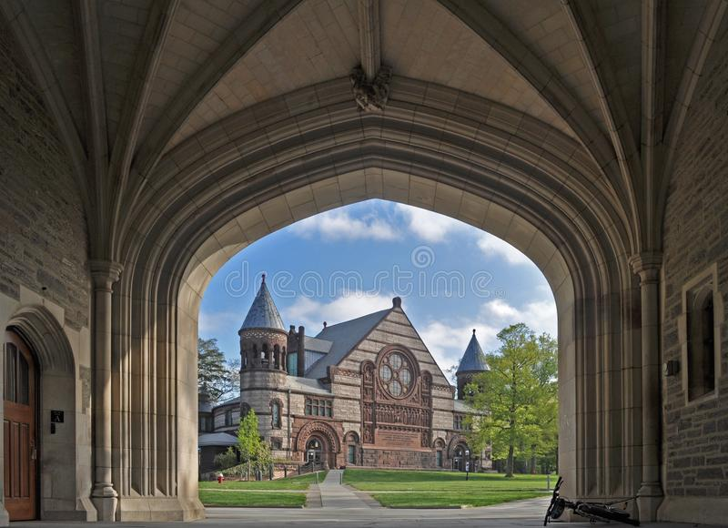 Alexander Hall bij Princeton-Universiteit in Princeton, New Jersey De V.S. stock foto's