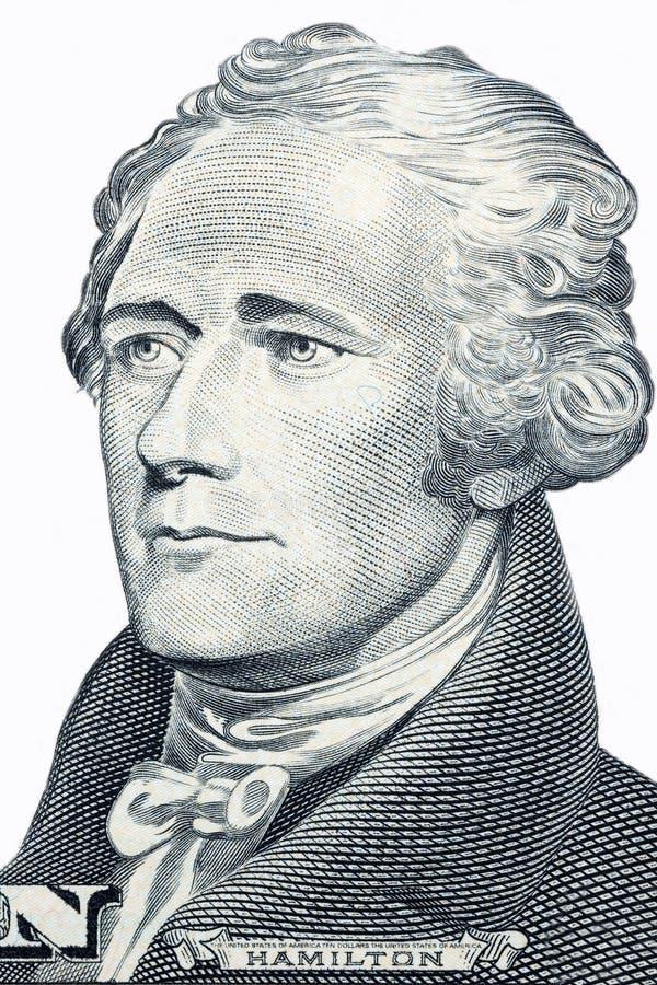 Alexander Hamilton stående royaltyfri foto
