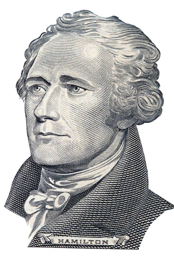 alexander hamilton stående arkivbild