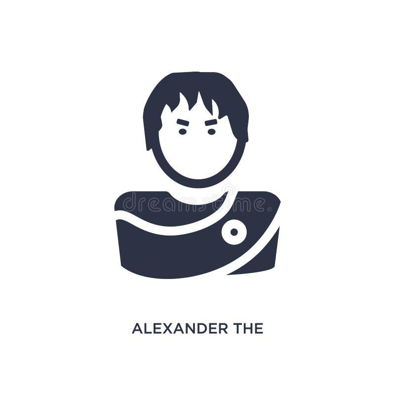 Alexander het grote pictogram op witte achtergrond Eenvoudige elementenillustratie van het concept van Griekenland vector illustratie
