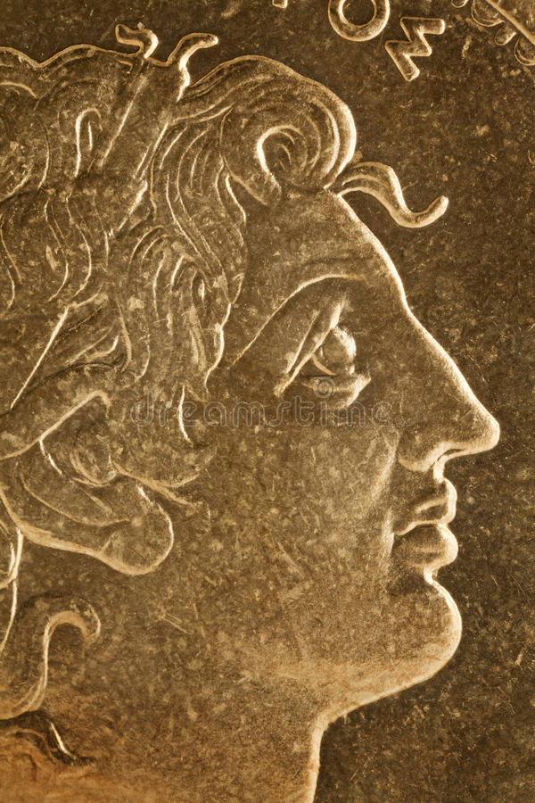 Alexander het Grote portret royalty-vrije stock fotografie