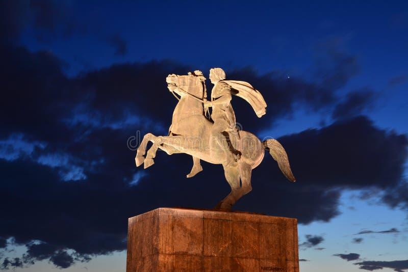 Alexander het Grote Standbeeld royalty-vrije stock foto's