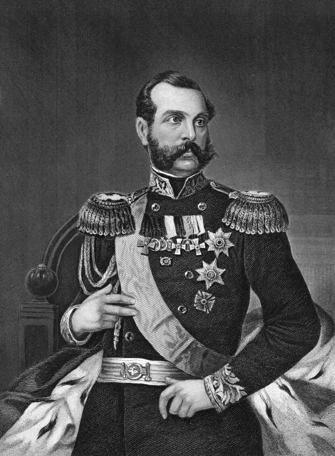 Alexander II av Ryssland royaltyfria foton