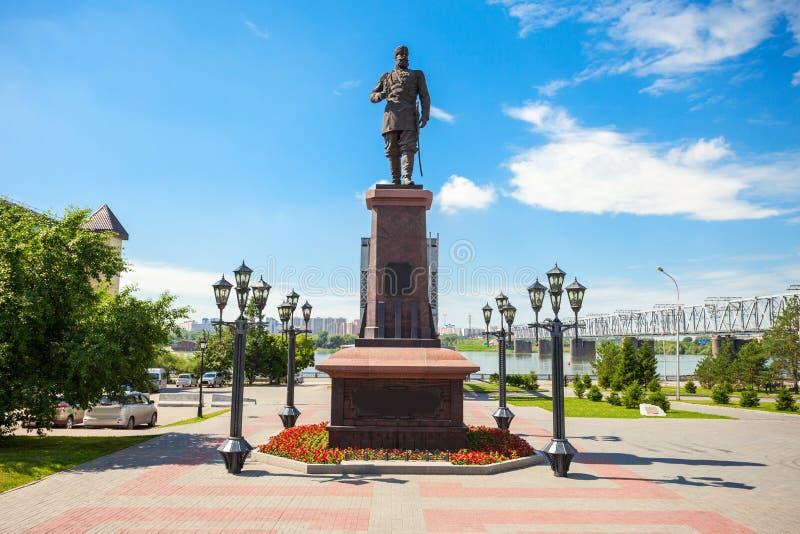 Alexander III.-Monument, Nowosibirsk stockfoto
