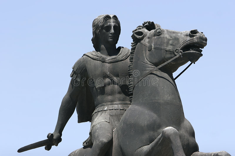 Alexander il grande fotografia stock