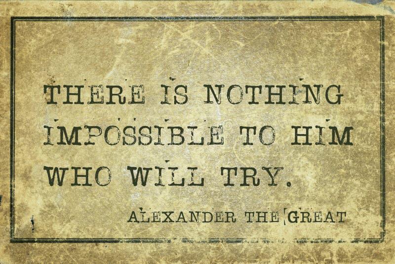 Alexander imposible el grande fotografía de archivo