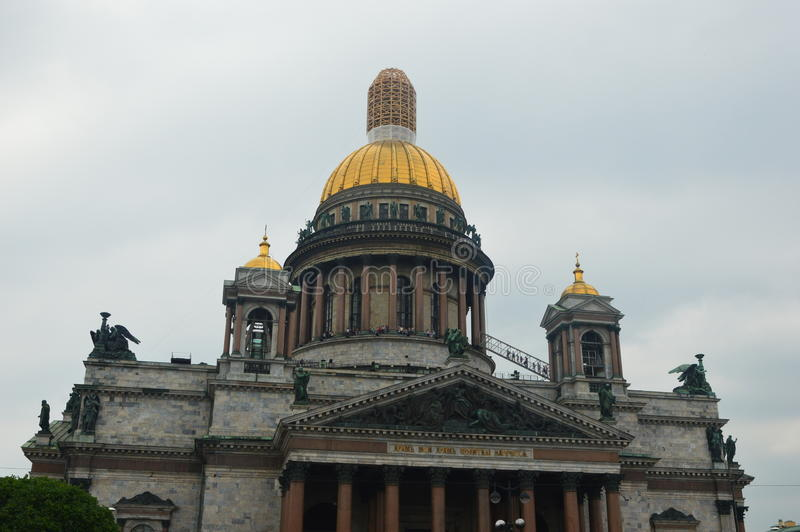 alexander katedry ogródu Isaac Petersburg s senata kwadrata st zdjęcie stock