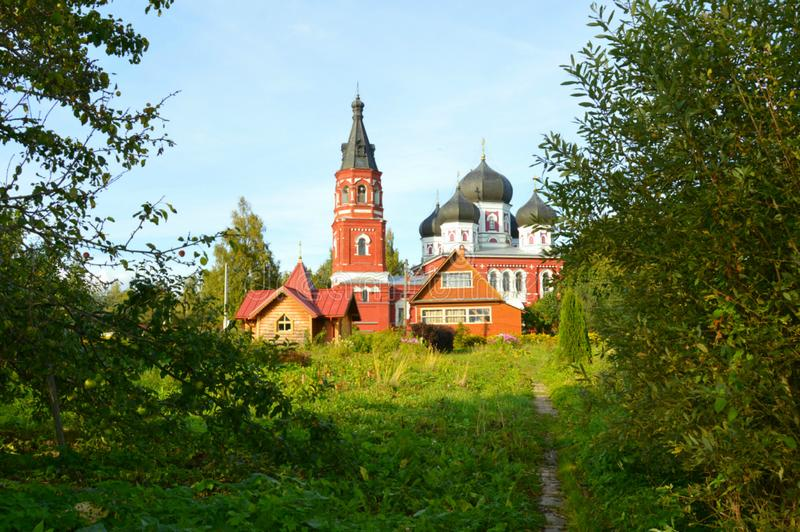 Alexander-Kloster stockfotos