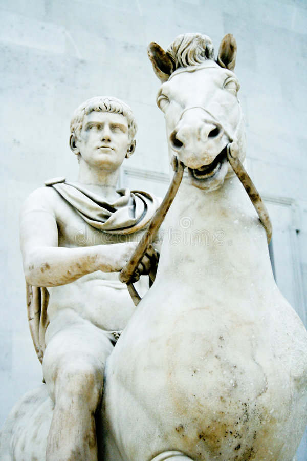 Alexander la gran estatua fotografía de archivo