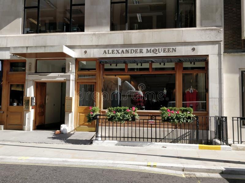 Alexander Mc Queen Savile Row immagini stock libere da diritti