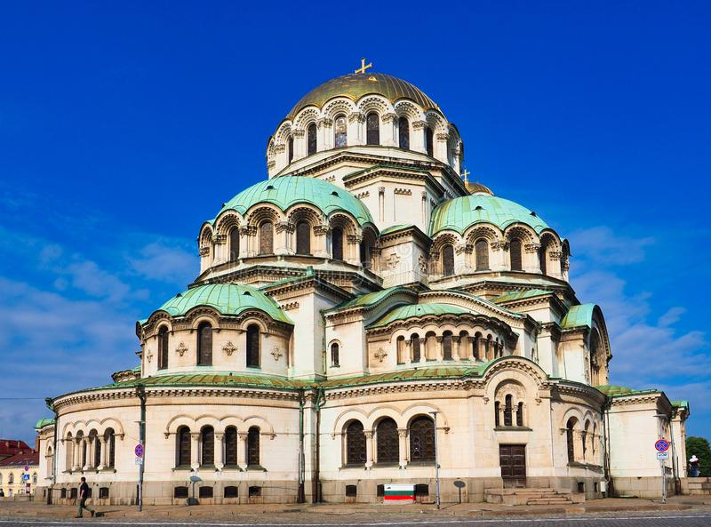 Alexander Nevsky Bulgarian Orthodox Cathedral, Sofia, Bulgaria. The Saint Alexander Nevsky Bulgarian Orthodox Cathedral in central Sofia, Bulgaria, Eastern royalty free stock photography