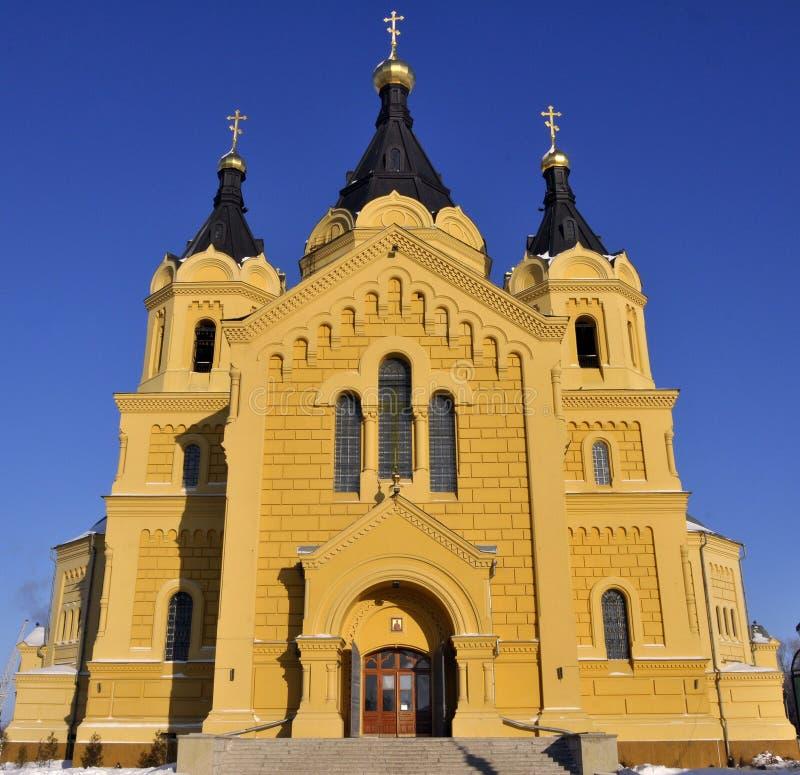 Alexander Nevsky Cathedral. In Nizhny Novgorod on the Volga River royalty free stock image