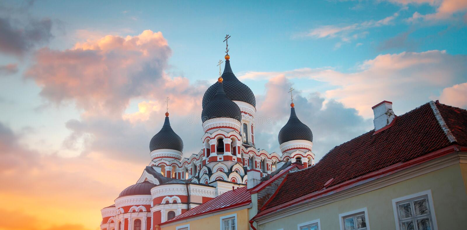 Alexander Nevsky Cathedral. In Tallinn. Estonia. Europe royalty free stock photo
