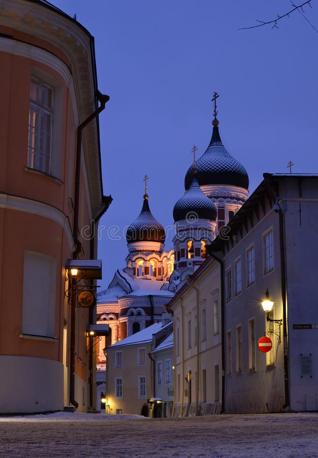 Alexander Nevsky Cathedral as seen from Kiriku plats. Toompea. Tallinn. Estonia royalty free stock photo