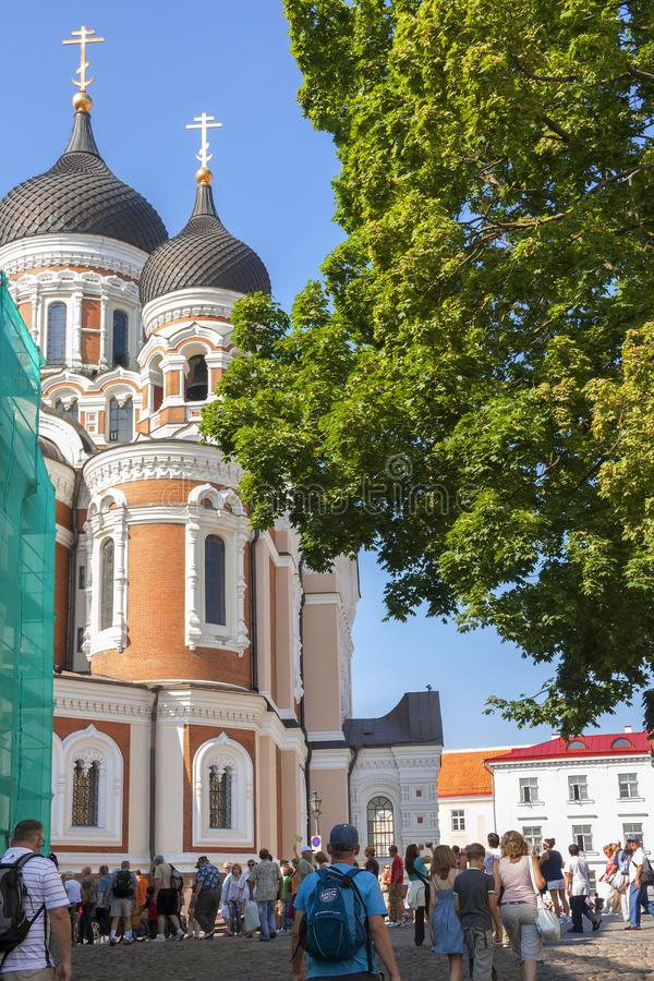 Tallinn, Estonia, St. Alexander Nevsky Cathedral. Alexander Nevsky Cathedral is both the main Orthodox Church in Estonia and one of the main attractions of royalty free stock photos