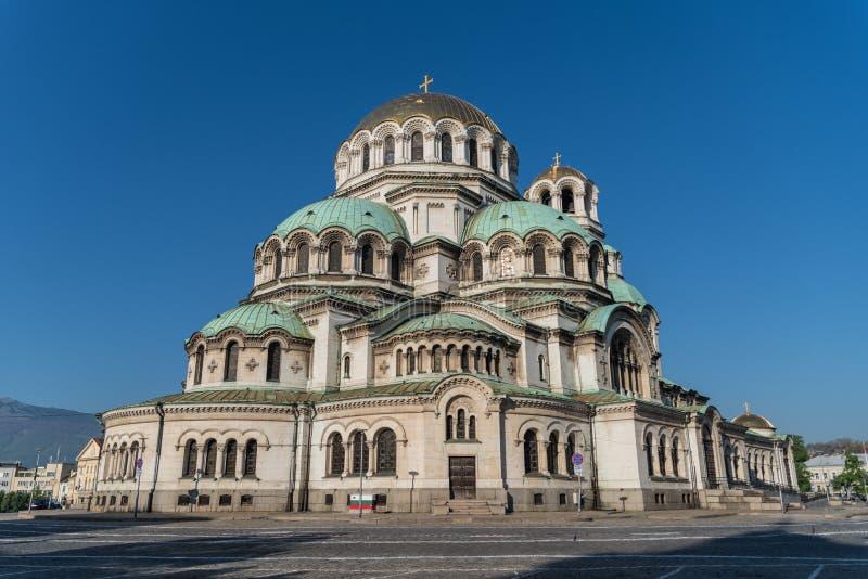 Alexander Nevsky Cathedral en el centro de la ciudad de Sof?a fotos de archivo