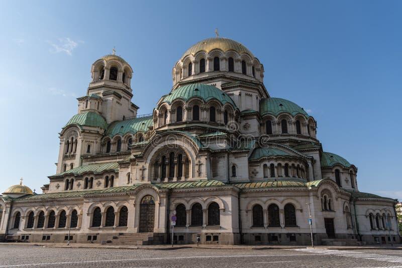 Alexander Nevsky Cathedral en el centro de la ciudad de Sof?a imagenes de archivo