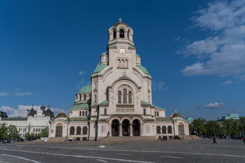 Alexander Nevsky Cathedral en el centro de la ciudad de Sof?a foto de archivo