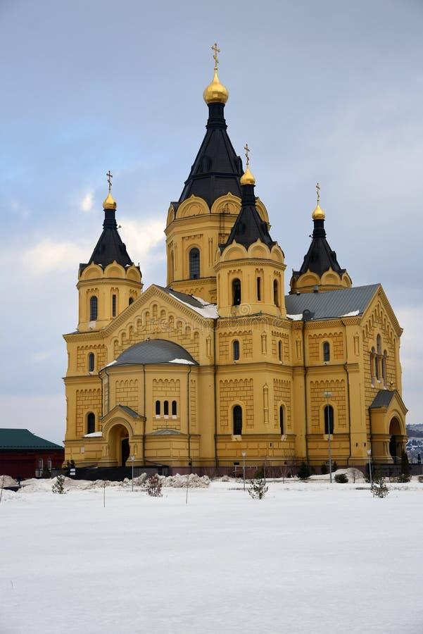 Alexander Nevsky Cathedral en Nizhny Novgorod, Rusia fotos de archivo libres de regalías