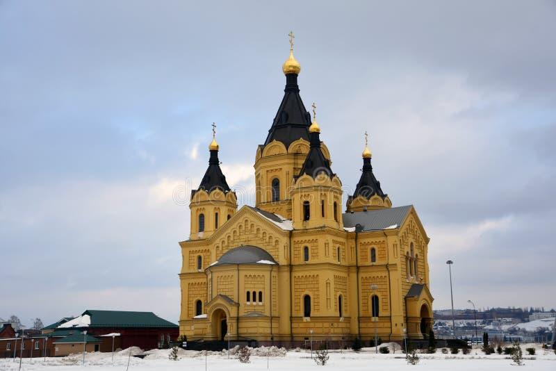 Alexander Nevsky Cathedral en Nizhny Novgorod, Rusia foto de archivo