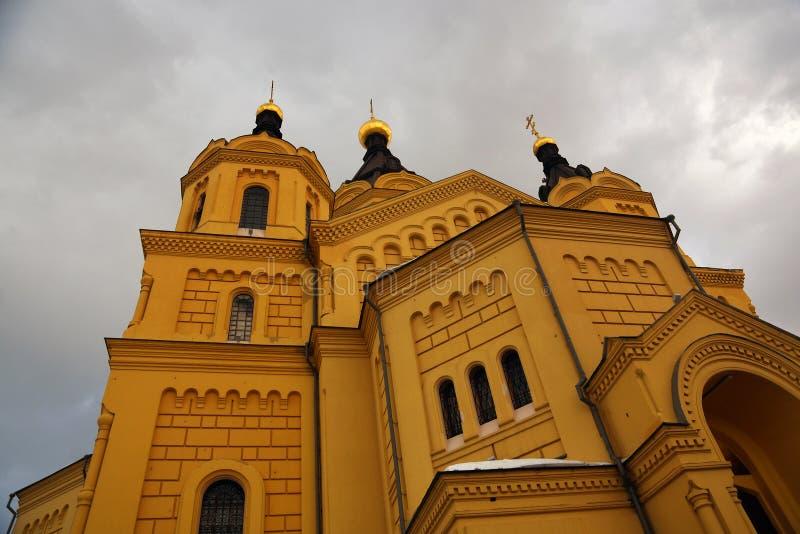 Alexander Nevsky Cathedral en Nizhny Novgorod, Rusia imagenes de archivo