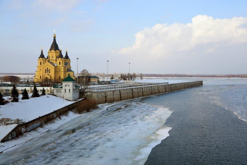 Alexander Nevsky Cathedral en Nizhny Novgorod, Rusia imagen de archivo