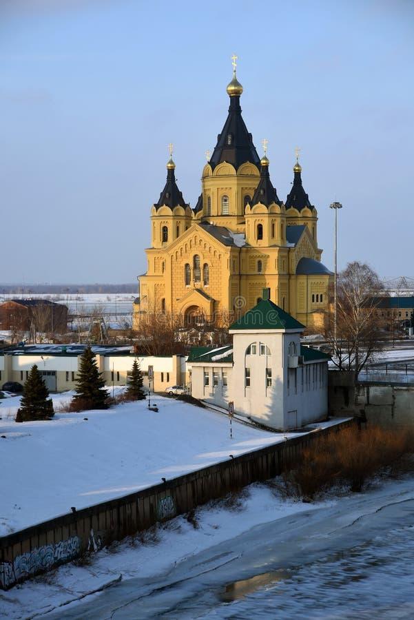 Alexander Nevsky Cathedral en Nizhny Novgorod, Rusia fotografía de archivo libre de regalías