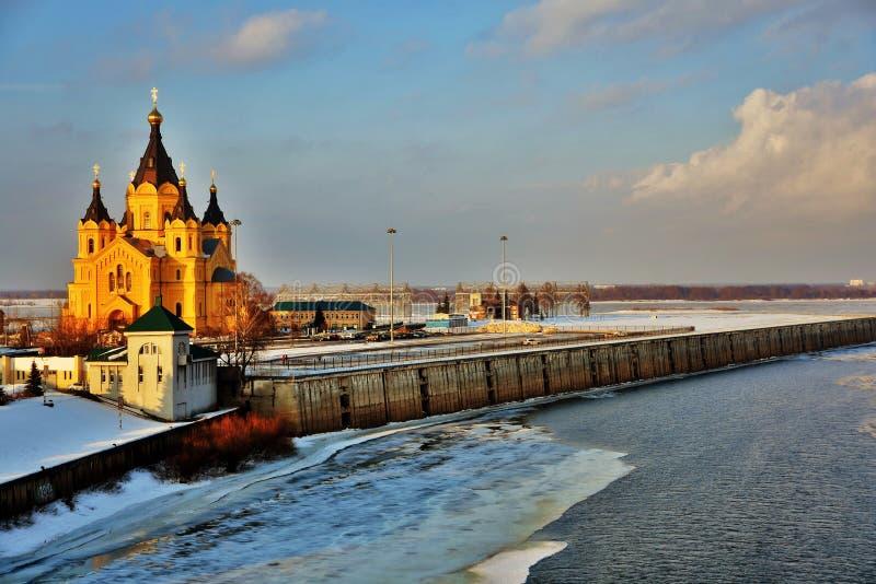 Alexander Nevsky Cathedral en Nizhny Novgorod, Rusia fotos de archivo